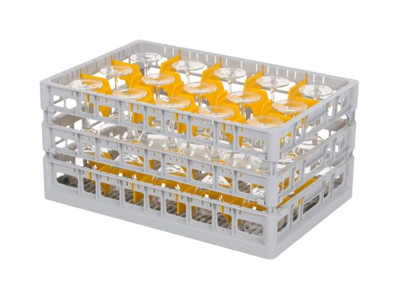 Clixrack 600 Glass basket - for glasses of height to 255 mm 50.CR.660.XS.S + subdivision (see Downloads)