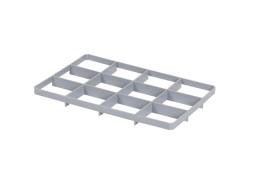 Lower 12 space subdivision - BASIC glass crates - size 117 x 137 mm