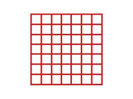 Subdivision 49 spaces - 63 x 63 mm (Basket 500 x 500 mm)
