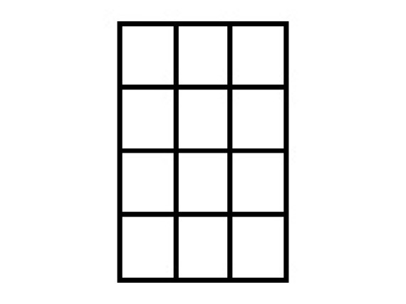 Set of 12 space subdivisions - BASIC glass crates - size 117 x 137 mm 35.GEF.12