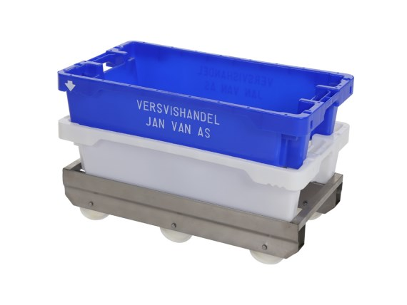 Fishing box trolley stainless steel - 790 x 400 mm - for fishing boxes 800 x 450 mm - A-89007-RVS-VI (2)