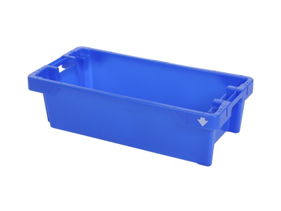 Fish box 25 kg - with drain holes 81650300 (blue) or 81651100 (natural white)