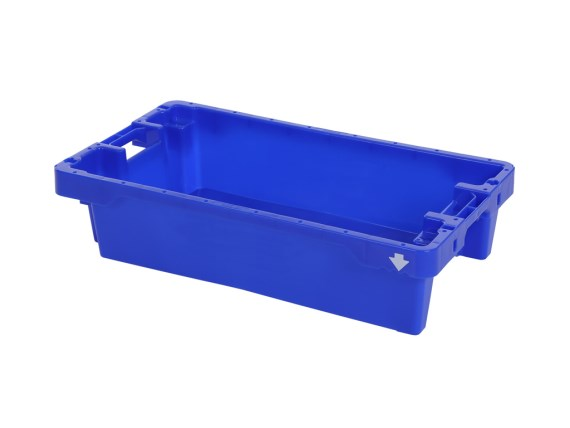 Fish box 20 kg - with drain holes 81670300 (blue) of 81671010 (natural white)