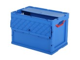 MULTIWAY SOLID LINE foldingbox with lid - 600 x 400 x H 420 mm - blue
