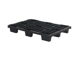 Plastic export pallet - 1200 x 800 mm (9 feet - nestable)